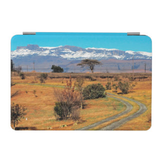 Road And Snow-Capped Cathedral Range, Champagne iPad Mini Cover