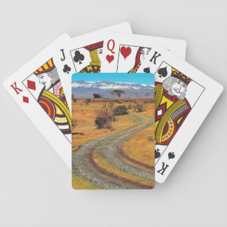 Road And Snow-Capped Cathedral Range, Champagne Playing Cards