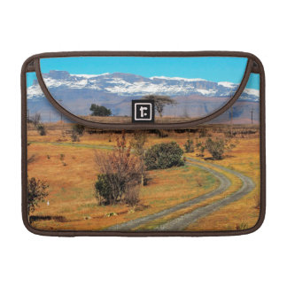 Road And Snow-Capped Cathedral Range, Champagne Sleeve For MacBook Pro