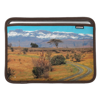 Road And Snow-Capped Cathedral Range, Champagne Sleeves For MacBook Air