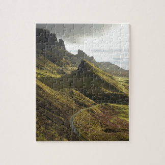 Road ascending The Quiraing, Isle of Skye, Puzzle
