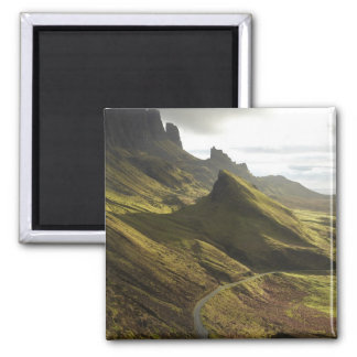 Road ascending The Quiraing, Isle of Skye, Square Magnet