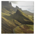 Road ascending The Quiraing, Isle of Skye, Tile