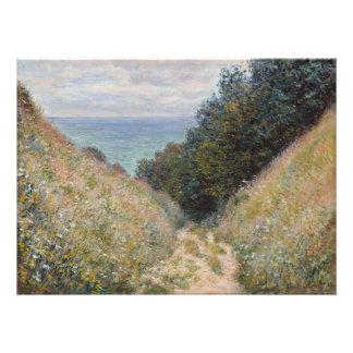 Road at La Cavee Pourville by Claude Monet Art Photo