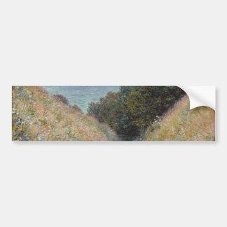 Road at La Cavee Pourville by Claude Monet Bumper Sticker