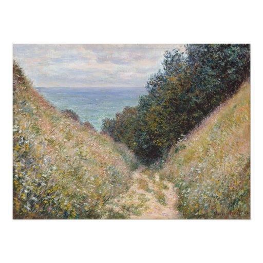 Road at La Cavee Pourville by Claude Monet Photo Print