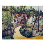 Road bend by Paul Cezanne Poster