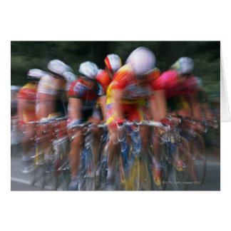Road bicycle racing greeting card
