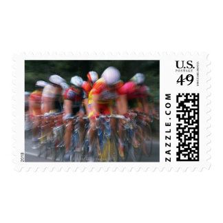 Road bicycle racing postage stamps