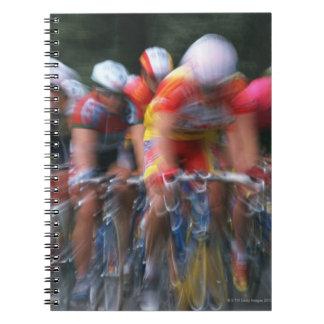 Road bicycle racing spiral notebook