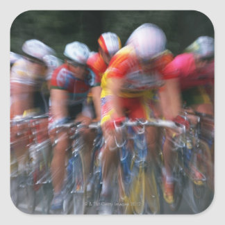 Road bicycle racing square sticker