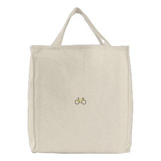 Road Bike Embroidered Bag