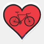 road bike heart sticker