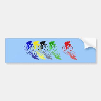 Road Bike Road Racing Cycling Bumper Sticker