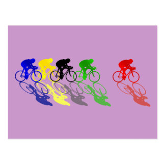Road Bike Road Racing  Cycling Postcard