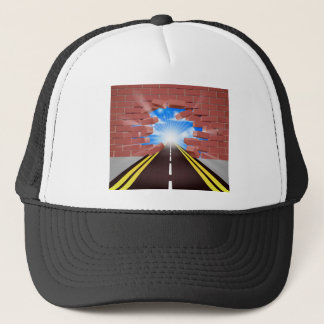 Road Breaking Through Wall Trucker Hat