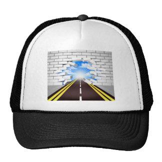 Road Breaking Wall Concept Cap