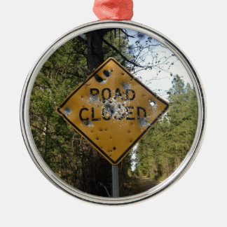 Road Closed Sign Christmas Ornament