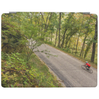 Road Cycling On Rural Country Road iPad Cover