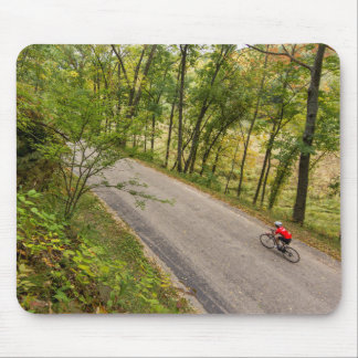 Road Cycling On Rural Country Road Mouse Mat