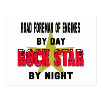 Road foreman of engines by Day rockstar by night Postcard