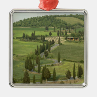 Road from Pienza to Montepulciano, Christmas Ornament