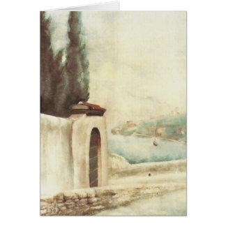 Road Gargnano to San Gaudenzio, D.H. Lawrence Greeting Card