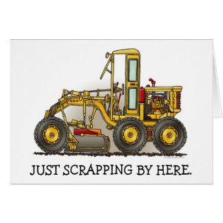 Road Grader Construction Note Card