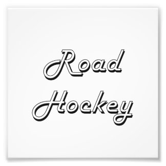 Road Hockey Classic Retro Design Photo Print