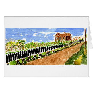 Road home in springtime note card