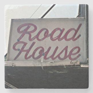 Road House, Athens, Georgia, Marble Stone Coaster. Stone Beverage Coaster
