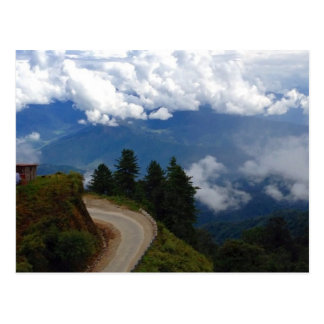 Road in Bhutan Postcard