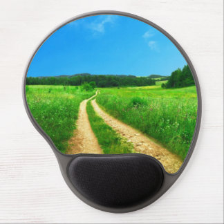Road in the countryside gel mouse pad