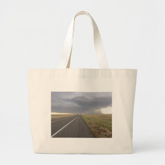 Road Into The Storm Jumbo Tote Bag
