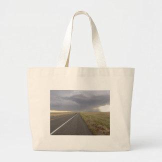 Road Into The Storm Canvas Bag