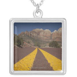 Road-kill viewpoint silver plated necklace