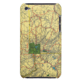 Road map Idaho, Mont, Wyo map iPod Touch Case