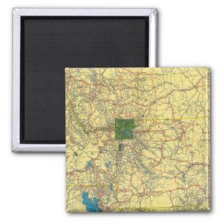 Road map Idaho, Mont, Wyo map Magnet