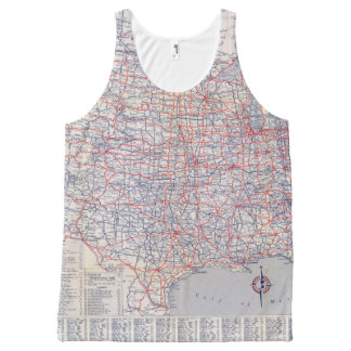 Road map United States All-Over Print Tank Top