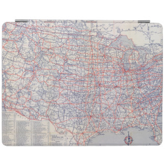 Road map United States iPad Cover