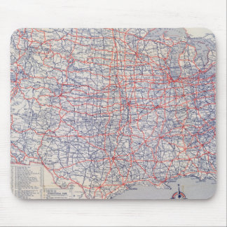Road map United States Mouse Mat
