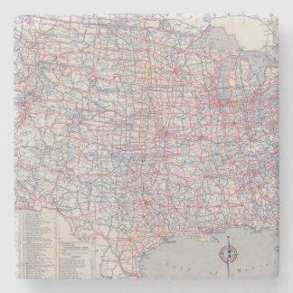 Road map United States Stone Coaster