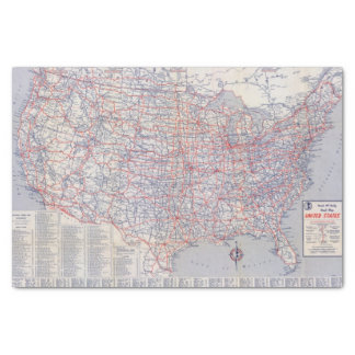 Road map United States Tissue Paper