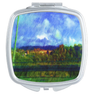 Road nature painting photo compact mirrors
