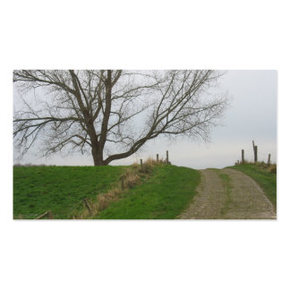 Road over the Hill and Tree Photo Card Pack Of Standard Business Cards