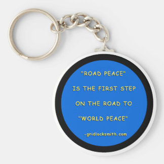 Road Peace - World Peace Basic Round Button Key Ring