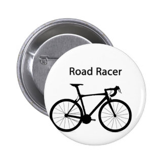 Road racer 6 cm round badge