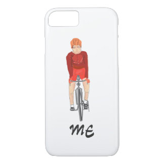 Road Racing Cyclist, man, add initials/name front iPhone 7 Case