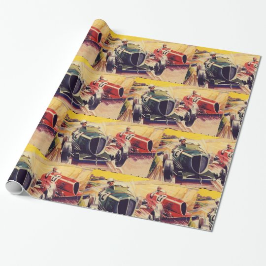 Road Racing Wrapping Paper