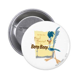 ROAD RUNNER™ Beep, Beep 6 Cm Round Badge